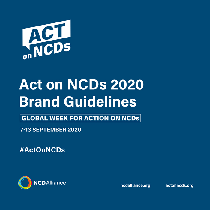 Act on NCDs 2020 Brand Guidelines cover