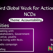 Global Week for Action on NCDs Promotional Banner.