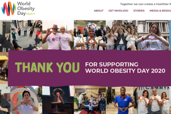 World Obesity Day 2020 thank you banner W4A blog